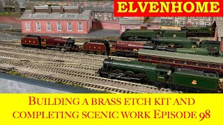 Elvenhome N Gauge Moḋel Railway Layout - Making a Brass Etch Kit and completing scenic work EP98