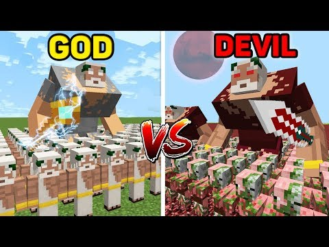 Minecraft GOD vs DEVIL : HUGE BATTLE Army in Minecraft thumbnail