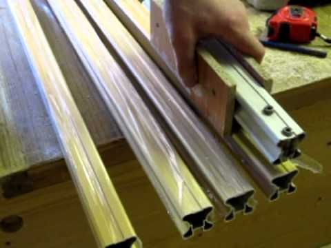 видео: шкаф,купе сделай сам изготовление двери-купе.mov