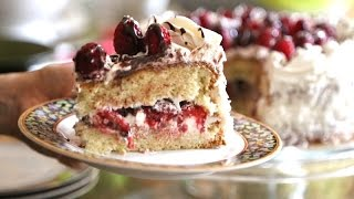 How To Make Raspberry Sponge Cake With Whip Cream And Chocolate Recipe By Heghineh