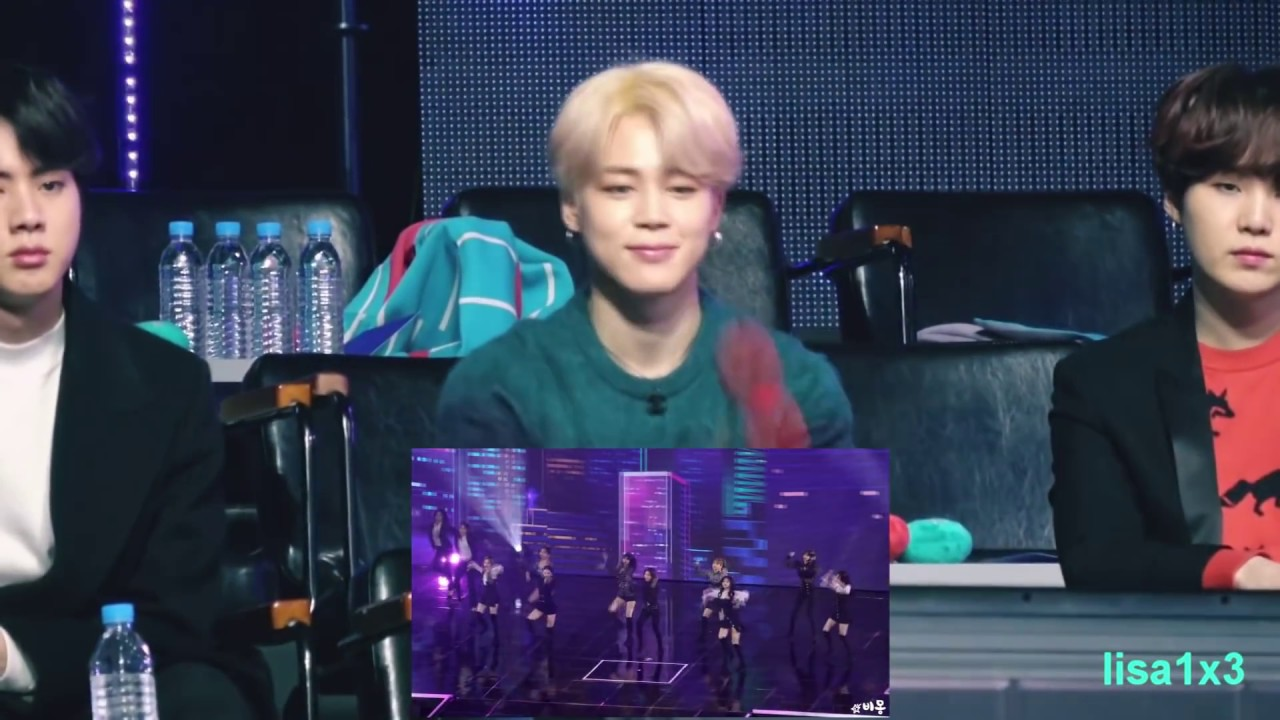 190106 BTS (Jin,Jimin,Suga) reaction to Twice - BDZ, What is love? and BTS Hyundai  @GDA 2019
