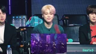 190106 BTS (Jin,Jimin,Suga) reaction to Twice - BDZ, What is love? and BTS Hyundai  @GDA 2019