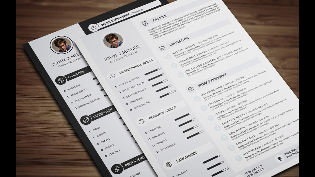 clean cv resume - ms word tutorial