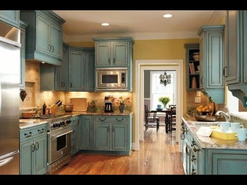 Chalk Paint on Kitchen Cabinets - YouTube
