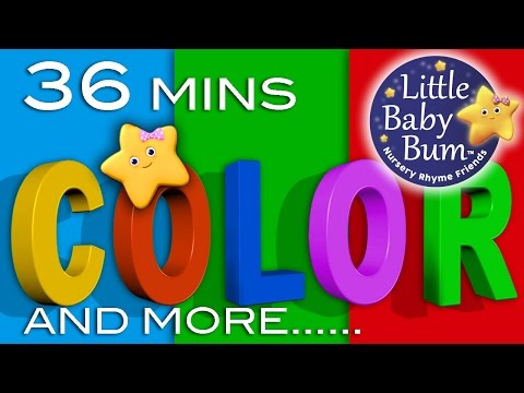 Color Songs | Plus More Children's Learning Songs | 36 Minutes Compilation from LittleBabyBum!
