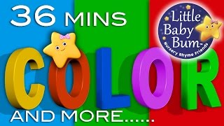 Color Songs & More Children's Learning Songs | 36 Minutes Compilation from LittleBabyBum!