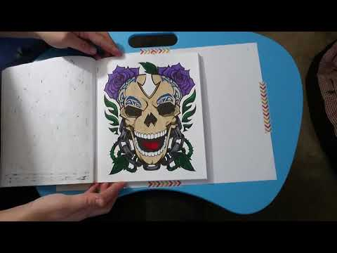 Crayola Art with Edge Graffiti Finished Book Flip Through