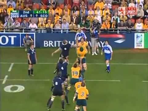 Rugby Union 2003 Quarter-final, Australia vs Scotland at Brisbane part 4.