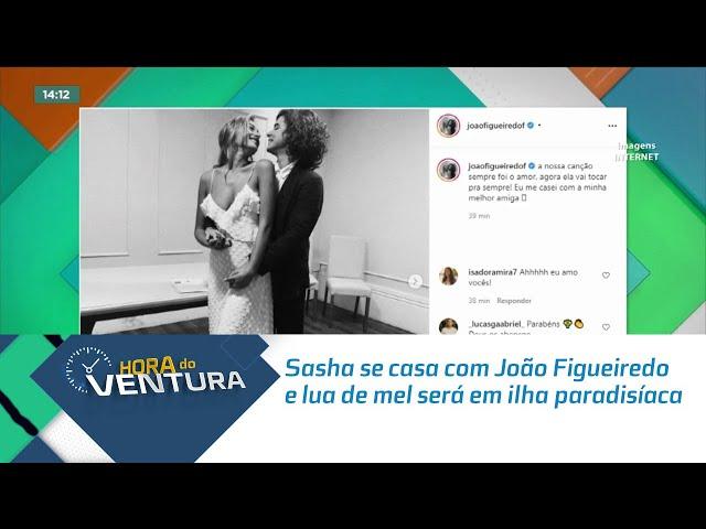 Sasha se casa com João Figueiredo e lua de mel será em ilha paradisíaca na Grécia