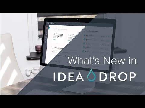 Idea Drop - All-new innovation Dashboard