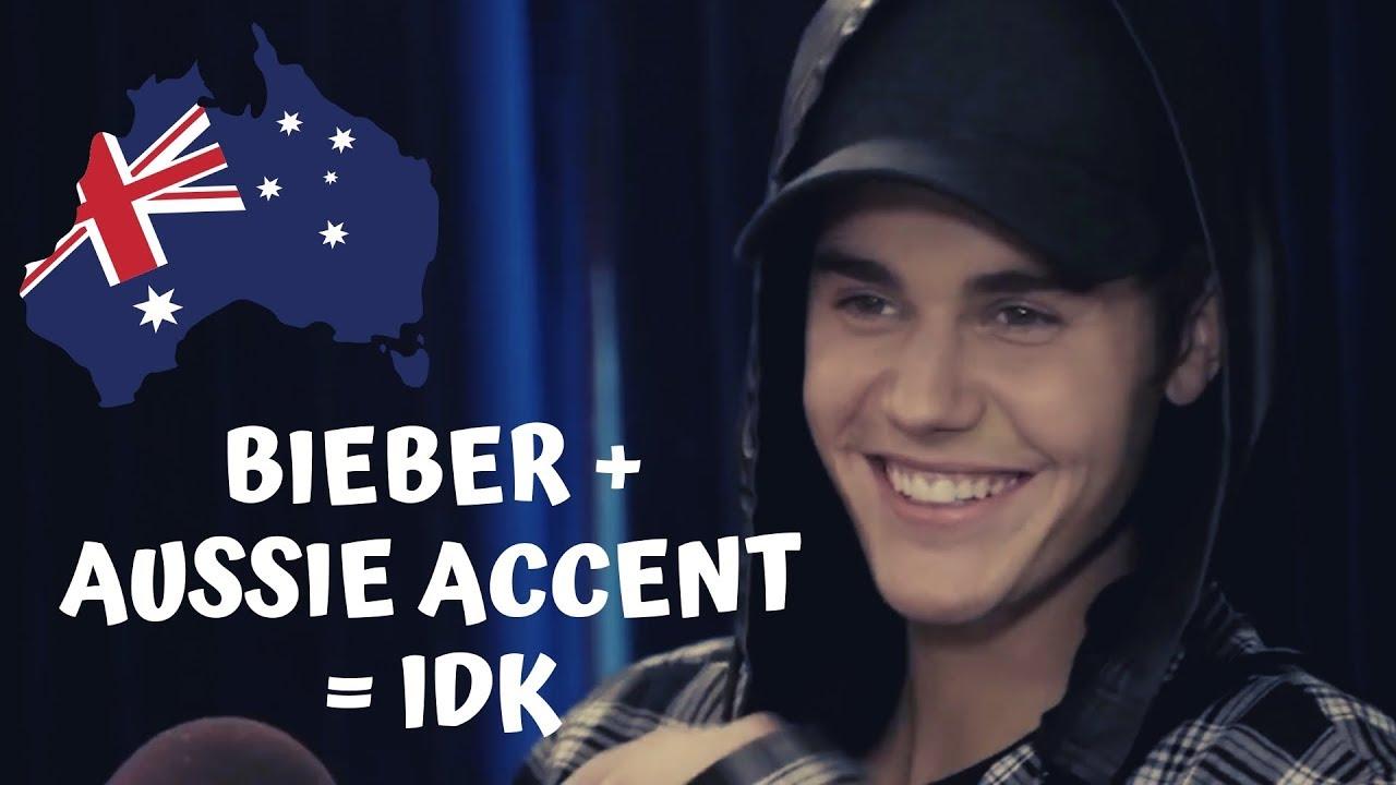 Justin Bieber Attempting an Australian Accent!!