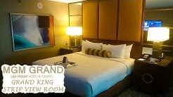 Grand King Strip View Room Tour | MGM Grand Las Vegas Hotel & Casino