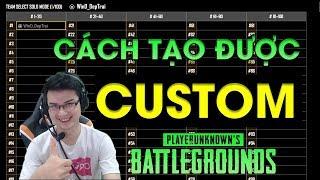 huong dan tao custom game trong pubg