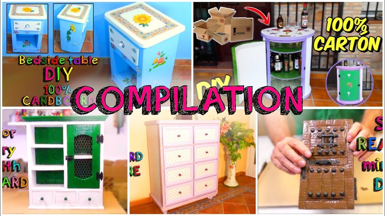 5 awesome crafts with carton boxes simple compilation diy for Diy crafts youtube channels
