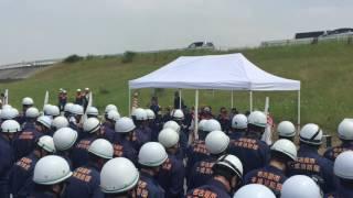 中村区内の消防団員の皆さん250名が参加して、年に一度の総合防災訓練が...