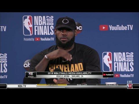 LeBron James Interview - Game 1 Preview | Warriors vs Cavaliers | 2018 NBA Finals
