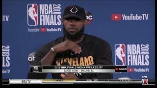 LeBron James Interview - Game 1 Preview | Warriors vs Cavaliers | 2018 NBA Finals