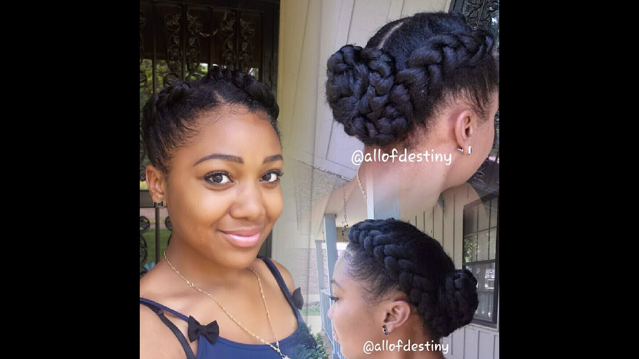 two braids braided bun