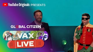 Ben Affleck and Jimmy Kimmel Celebrate the Return of Shared Experiences   VAX LIVE by Global Citizen