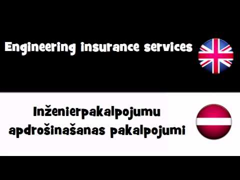VOCABULARY IN 20 LANGUAGES = Engineering insurance services