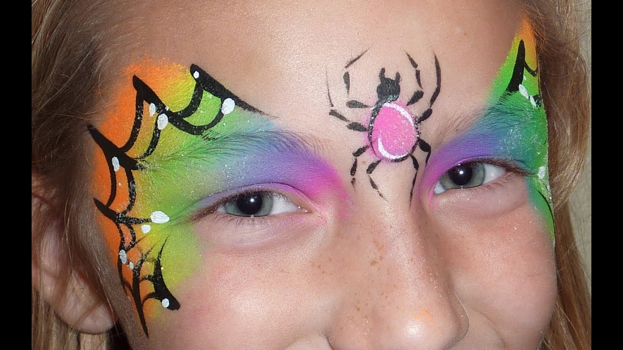 Uncategorized Spiderweb Face Paint halloween face painting spider web youtube