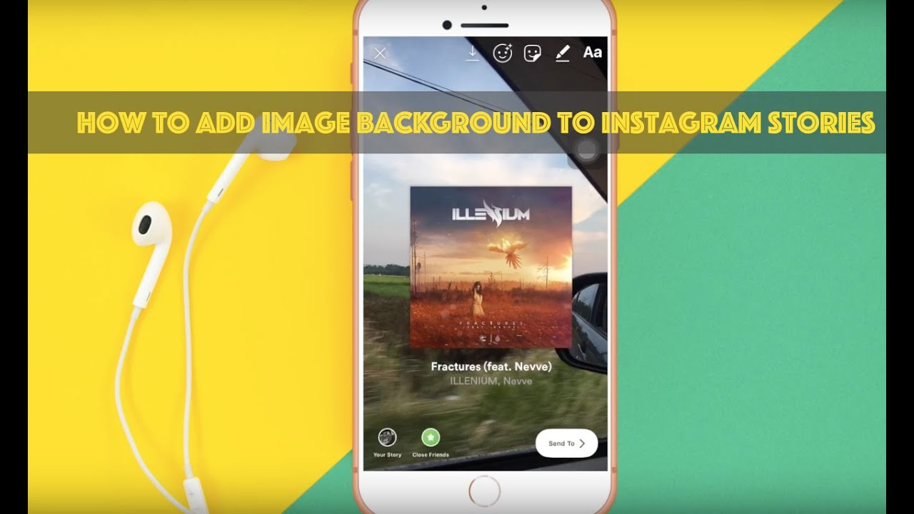 How to Add Background Image to Instagram Story (iPhone/Android)