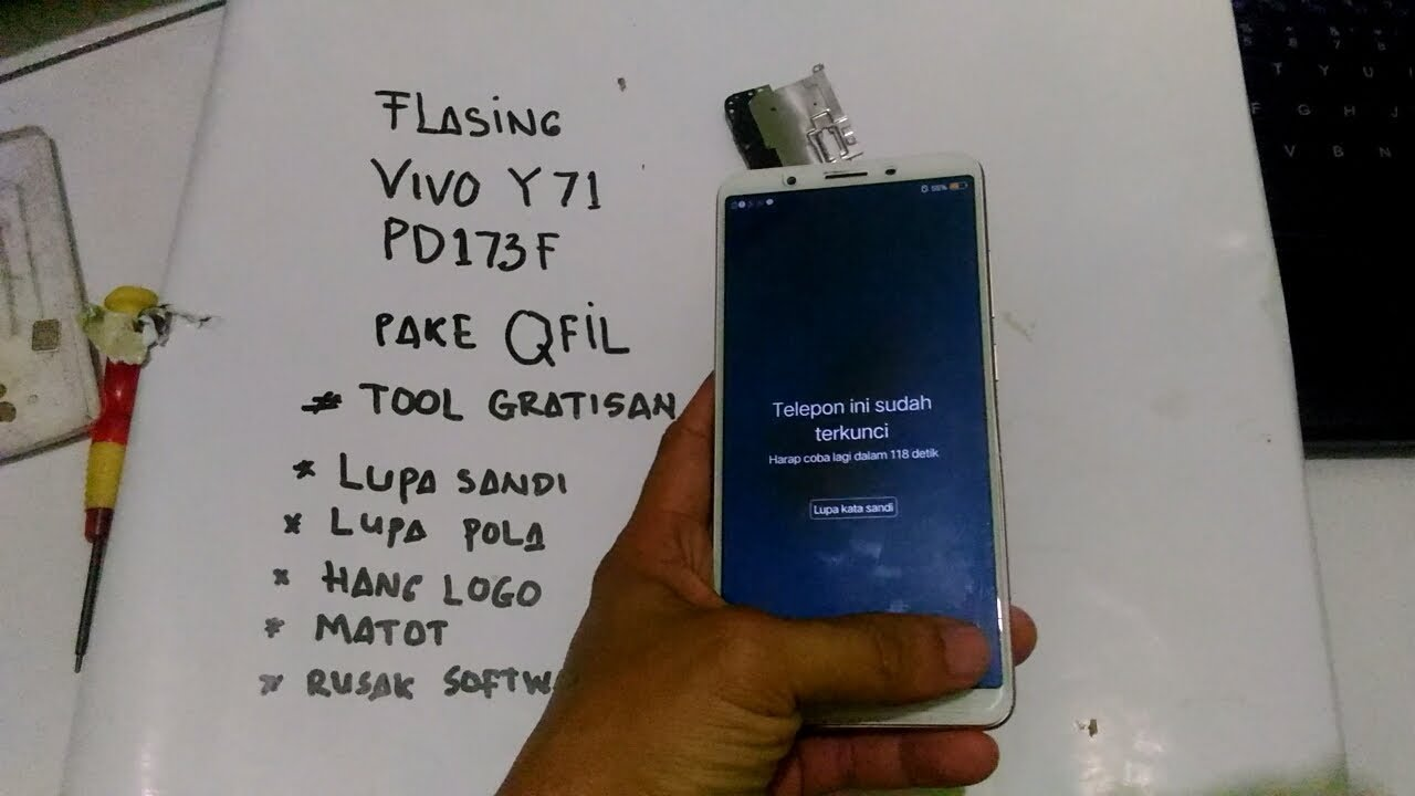 cara buka sandi Vivo Y71 PD1731F yang lupa dengan cara flashing