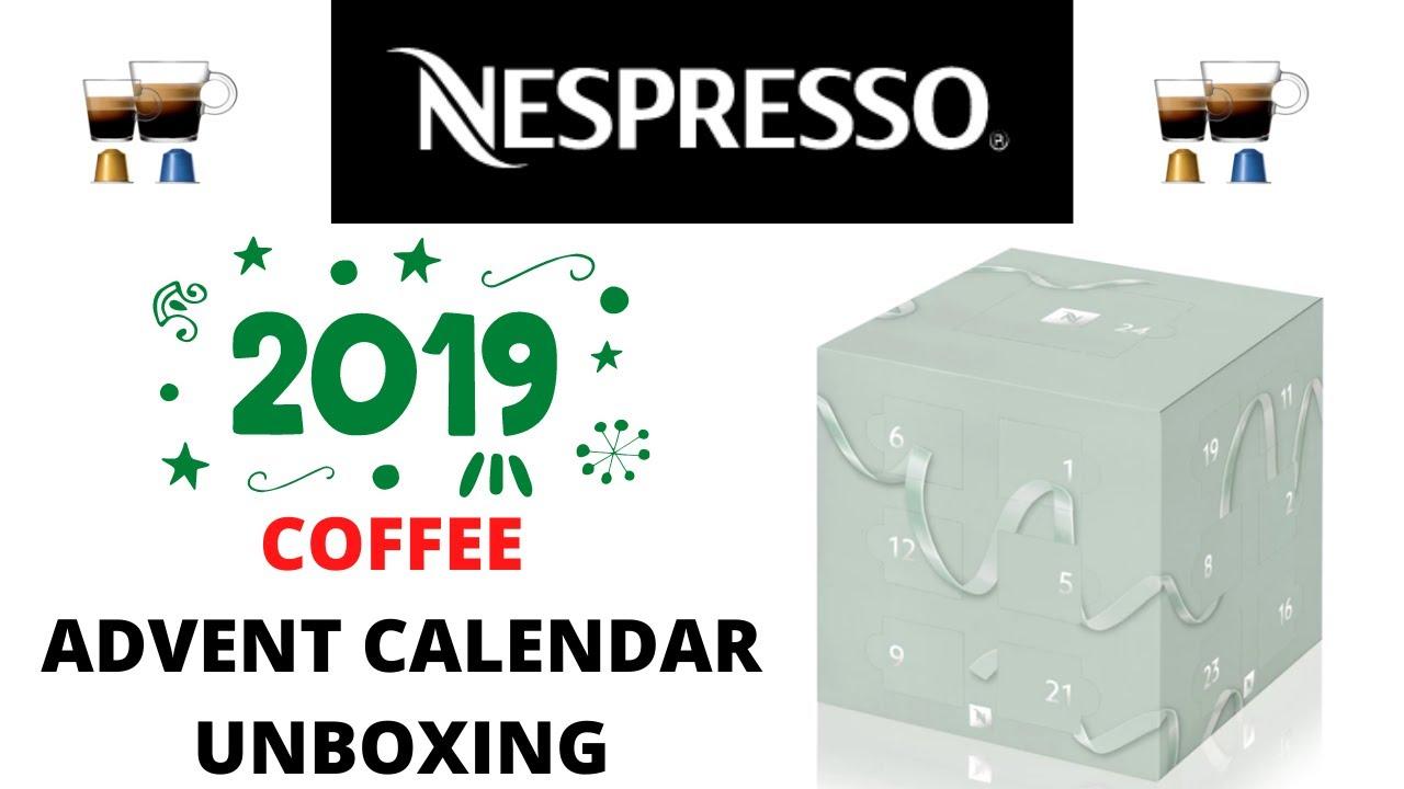 Coffee Advent Calendar Unboxing | NESPRESSO 2019 - YouTube