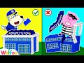 Policeman Baby Wolf Catch Super Robber Building Lego Police Station   Wolfoo Channel