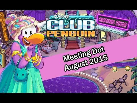Club Penguin - Meeting Dot Fashion Party August 2015 [HD]