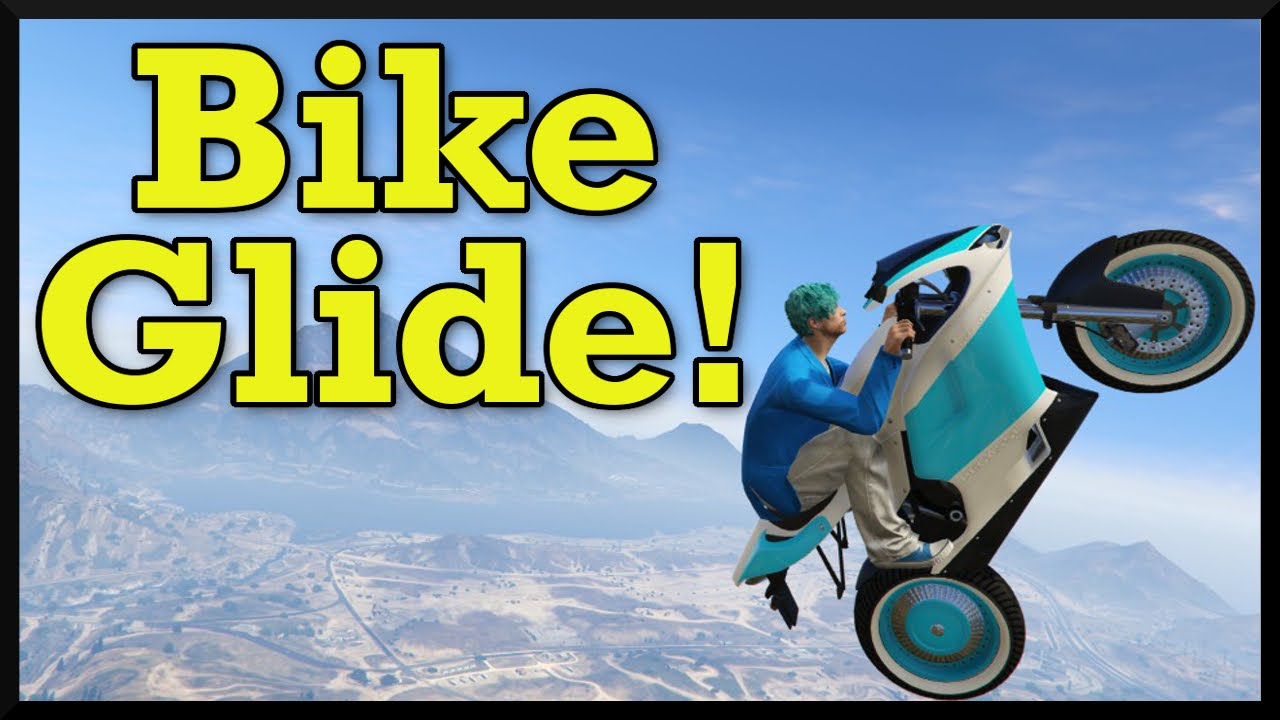 Gta 5 New Motorcycle Glide Trick How To Fly Across The Map On A Bike Cunning Stunts Dlc Youtube
