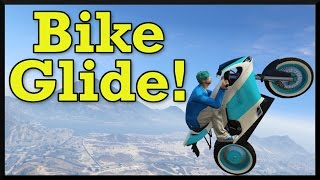 GTA 5: New Motorcycle Glide Trick! How To Fly Across The Map On A Bike (Cunning Stunts DLC)