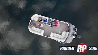 Ranger RP200C Reata Pontoon On-Water Footage