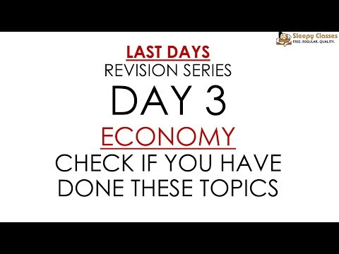 Day 2 (Topic List Only) - ECONOMY for Prelims || UPSC || IAS
