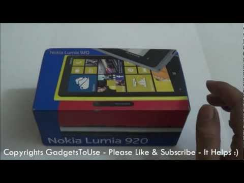 Nokia Lumia 920 India Unboxing and Full Hands on Review Part 1