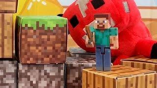 minecraft toys, игрушки майнкрафт, игра и реальность!