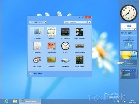 How To Install Gadgets In Windows 8 And 8.1