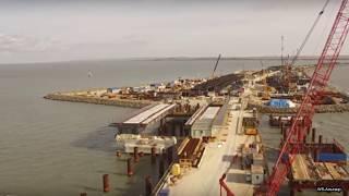 Крымский мост надвижка вид с квадрокоптера