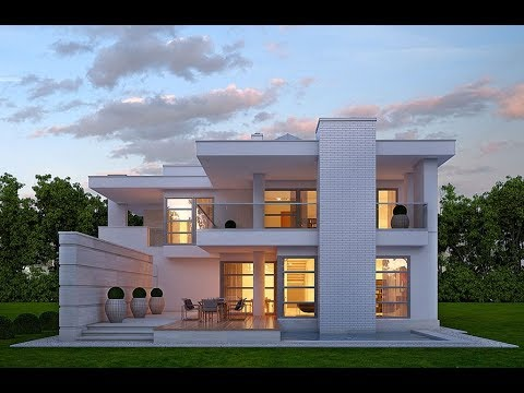 Modern house contemporary house modern homes youtube for Piani casa tetto piatto