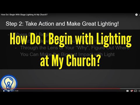 How Do I Begin With Stage Lighting At My Church?
