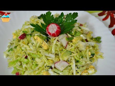 Яйцо огурец редис салат