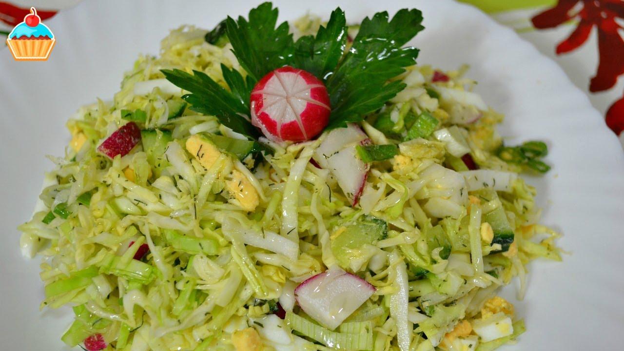 как приготовить салат весенний со свежей капустой