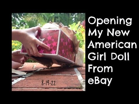 Opening My New American Girl Doll From EBay- Mia St. Claire