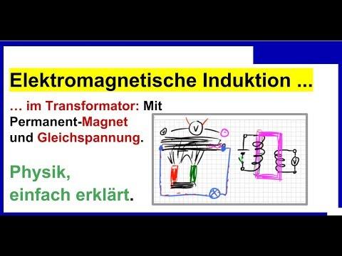 Elektromagnetische Induktion im Transformator: Mit Permanent-Magnet und Gleichspannung, Physik
