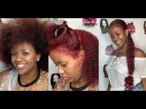 L'Oréal High Lift Red And Quick and easy Protective Style Braided Ponytail