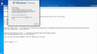 Windows 7 Build 7600 Activation