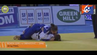 junior european judo cup athens 2017 final  63kg obradovic jovana srb vs mina ricken gre