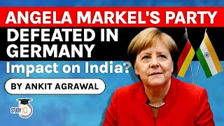 Download German Election 2021 - Angela Markel's political party defeated, India Germany Relations   UPSC