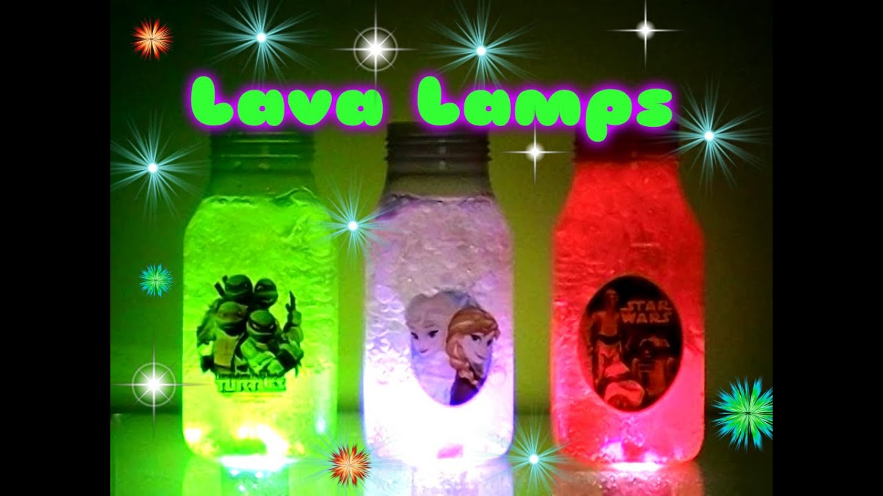 LAVA LAMPS Science Project   Disney Frozen, Teenage Mutant Ninja Turtles  And Star Wars LAVA LAMPS   YouTube