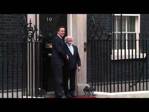 Irish President meets David Cameron on historic state visit